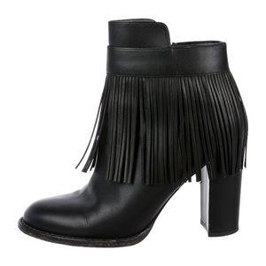 Valentino fringe booties size 38 / 8 US